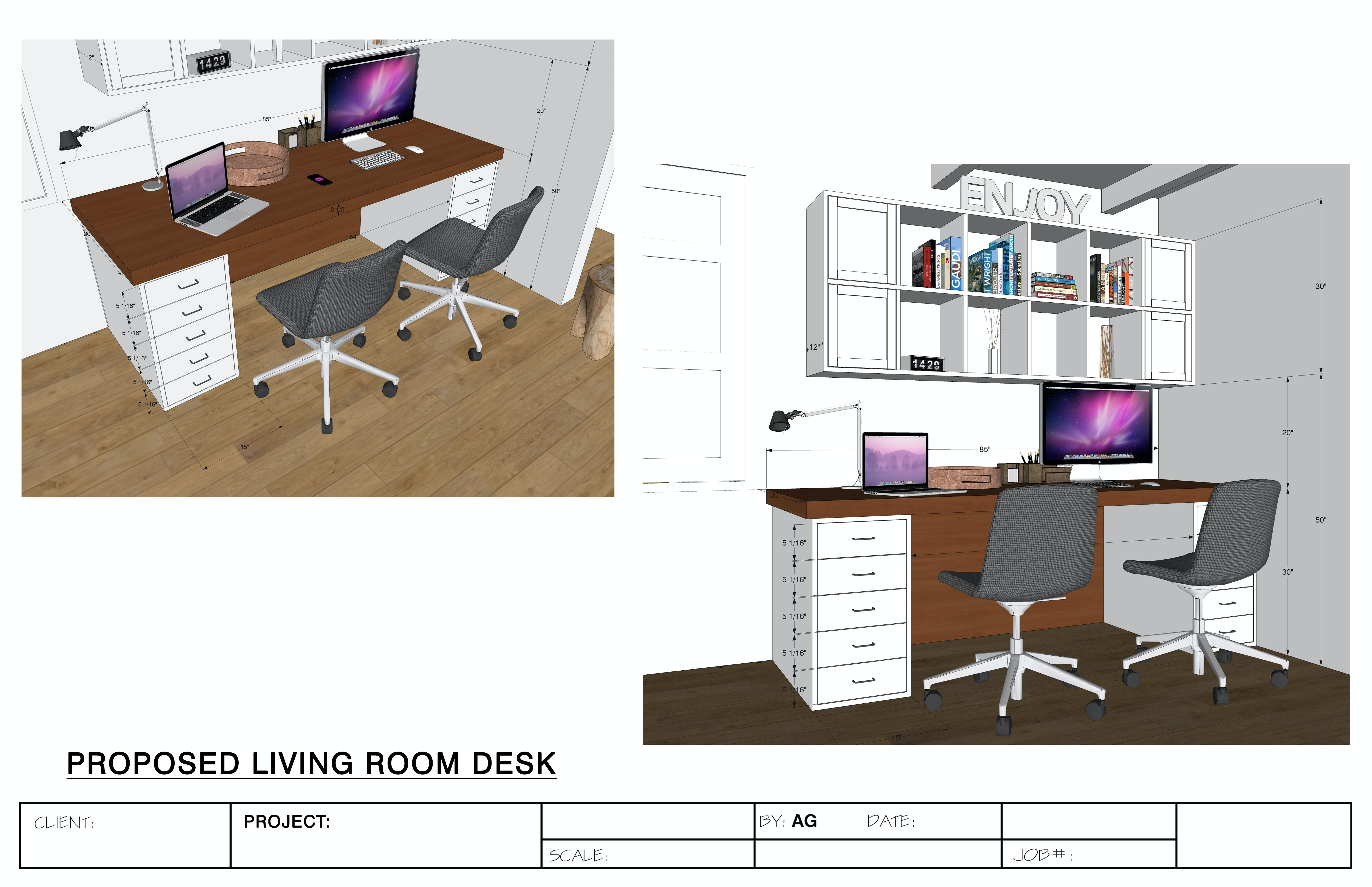 Millwork, Casework Cabinet And Interior Design Shop Drawings