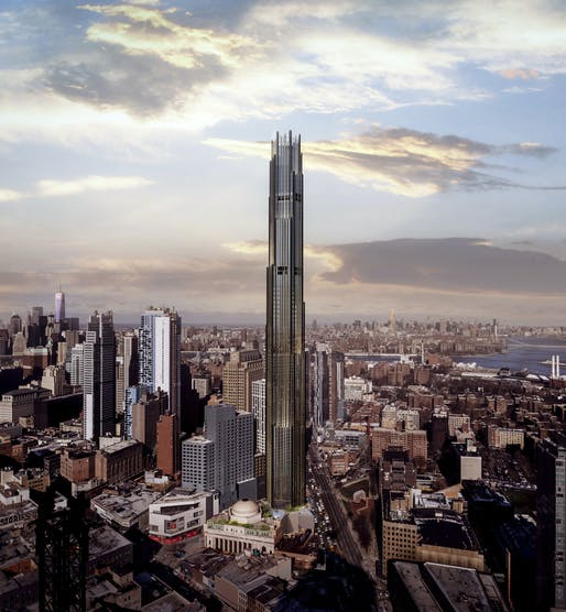Now the tallest building in Brooklyn, 9 DeKalb is rooted in the historic vernacular of the landmarked Dime Savings Bank of Brooklyn. Image: Courtesy SHoP Architects