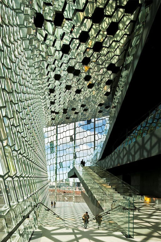 Harpa Concert Hall and Conference Centre by Henning Larsen in collaboration with Studio Olafur Eliasson and Batteriid Architects. Photo: Nic Lehoux.