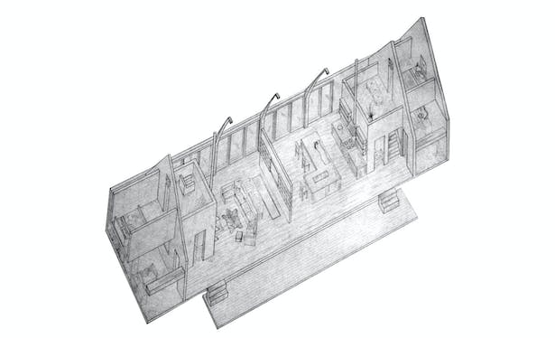 Hand Drafted Axonometric
