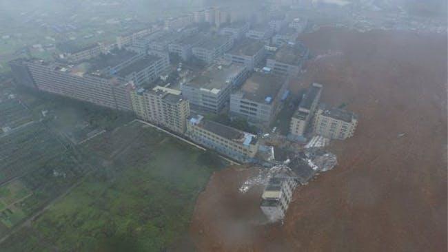 An aerial image shows the extend of the destruction. (Image via bbc.com)