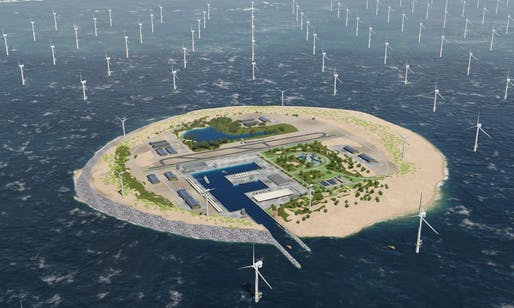 Windfarm island rendering by TenneT. Photo: TenneT.