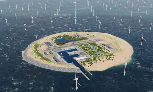 Windfarm island rendering by TenneT. Photo: TenneT.