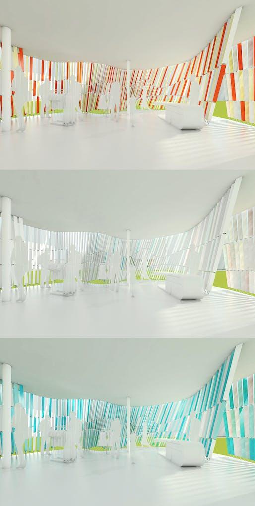 Internal states of 'Transmittance-Color Curtain' by JDAP. Image: JPAP.