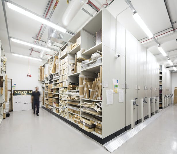 Climate-controlled collection room within the new Royal Greenwich Heritage Trust archive