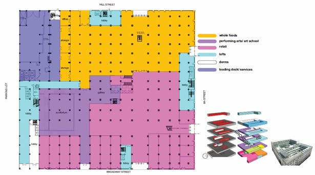 Ground Floor Plan and Overall Massing