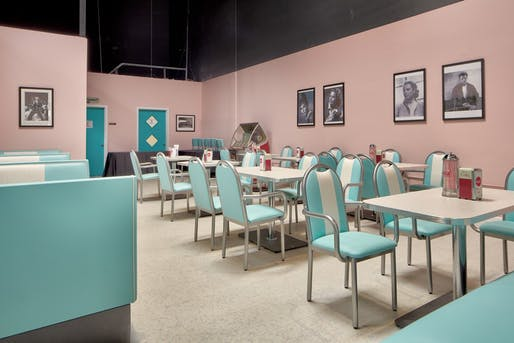 Diner in Town Square designed in 1950's style interior. Image: Senior Helpers.