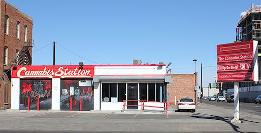 Cannabis Station, a medical marijuana dispensary in Denver. Photo: Jeffrey Beall, via Wikipedia.