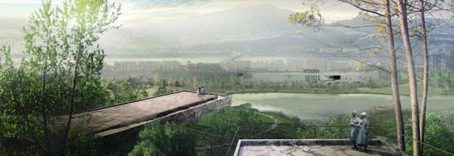 Eco spine park observatory © West 8 urban design & landscape architecture