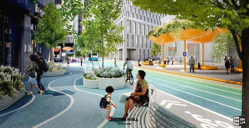 Fulton Mall reimagined. Image courtesy of Downtown Brooklyn Partnership