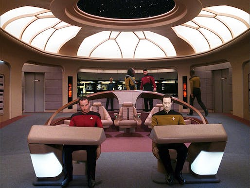 Not all sci-fi environments are as barrier-free and wheelchair-accessible as the ADA-friendly bridge design of The Next Generation's USS Enterprise with its gently sloping ramps.