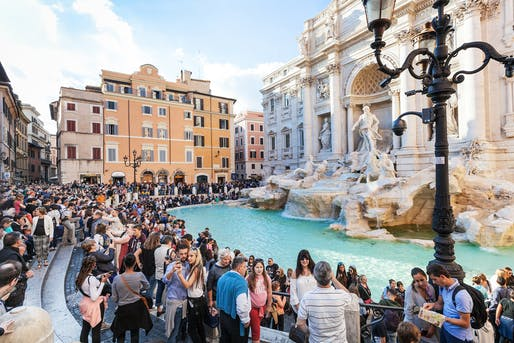 Crowds near the Trevi Fountain. Image courtesy of Italy Magazine