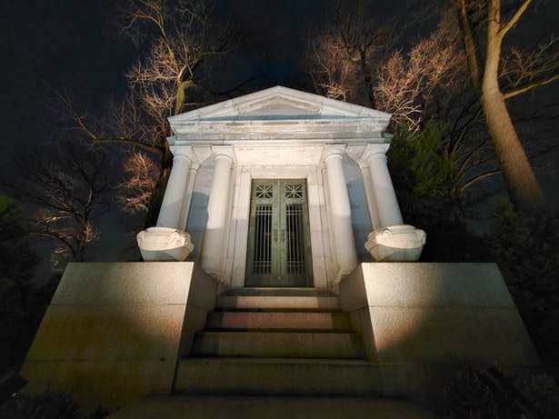 The Lighting Practice Illuminates Historic Laurel Hill Cemetery