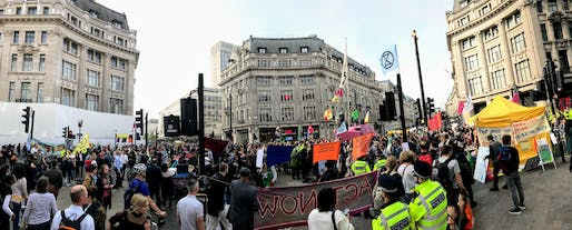 "The Extinction Rebellion-led ""international rebellion"" aimed to spur climate action. Image courtesy of Wikimedia user Andrew Davidson."