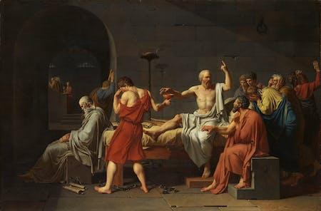 The Death of Socrates, Jacques-Louis David, 1787