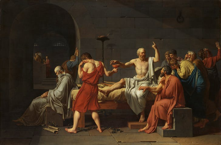 The Death of Socrates, Jacques-Louis David, 1787