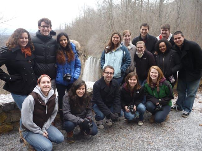 Group photo at falling creek falls