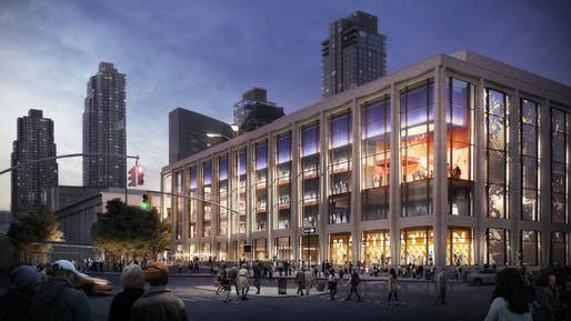 Diamond Schmitt Architects and Tod Williams Billie Tsien Architects have been chosen to lead a $550 million renovation of Lincoln Center's David Geffen Hall. Image courtesy of Lincoln Center.