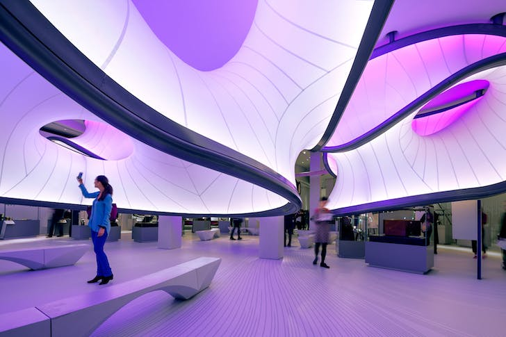 The Winton Gallery, Science Museum, London, UK, by Zaha Hadid Architects. Image © NAARO