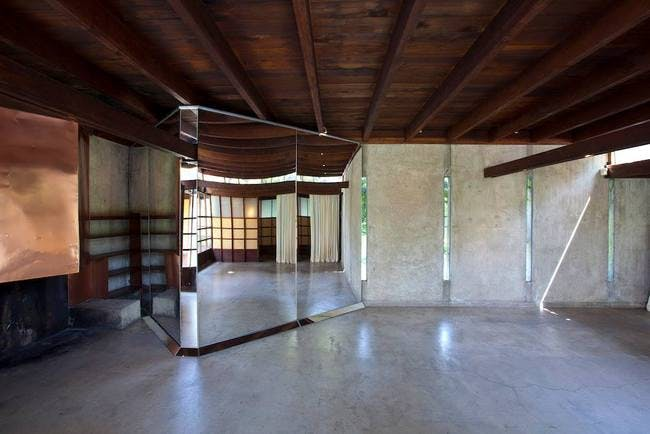 Inside the MAK Center for Art and Architecture at the Schindler House. Photo via Facebook.