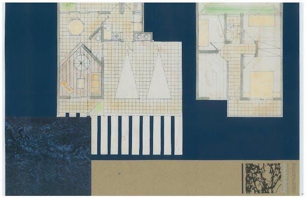 Beach Townhouses   Hand-Sketch Floor Plan