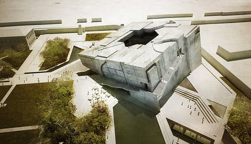 """Timeless Cube"", entry for the National Museum of Afghanistan competition by Matteo Cainer Architects (Image: Matteo Cainer Architects)"
