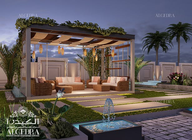 Landscape Design Of A Luxury Villa Algedra Design Archinect