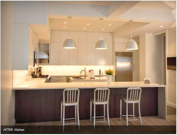 NYC Brownstone renovation. Kitchen.