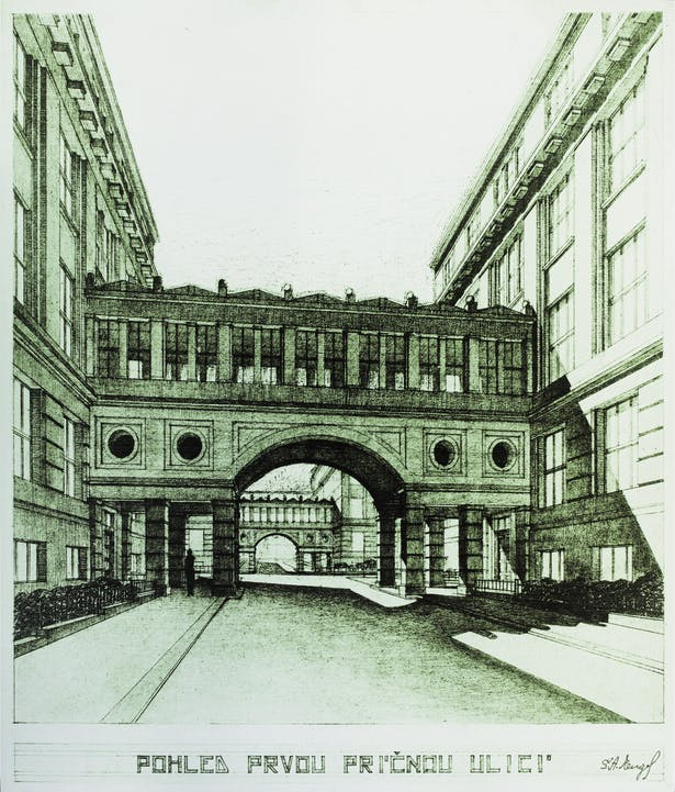 Original bridge design, 1936 Antonín Engel