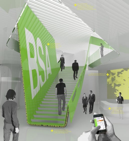Competition-winning design for the new Boston Society of Architects Headquarters: Slipstream Public Exchange by Höweler + Yoon Architecture