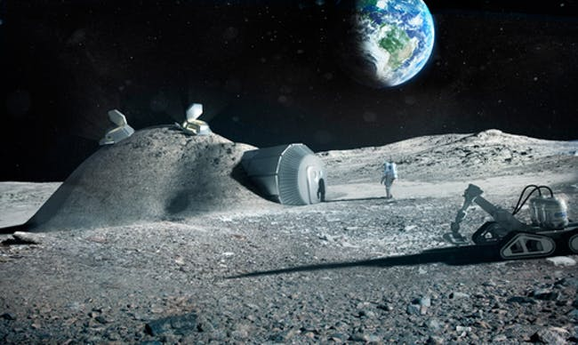 Foster + Partners' proposed 3D printed lunar module