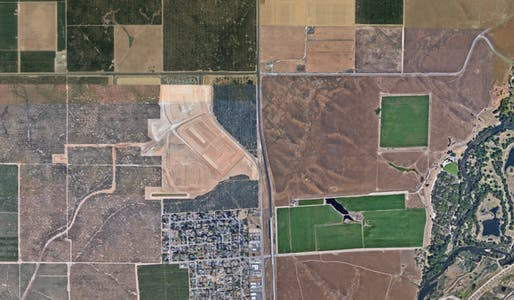 120,000 suburbanites could soon call California's Central Valley home. Image courtesy of Google Earth.