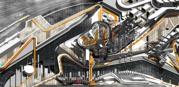 Regent's Library - Urban Axonometric