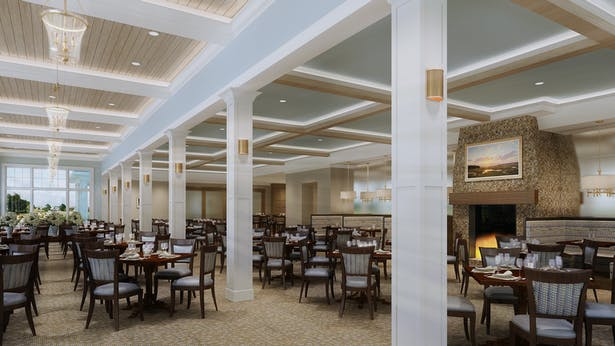 rendering of new casual dining
