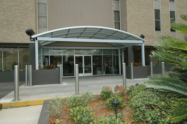 AFTER - Building Front Drive and Canopy