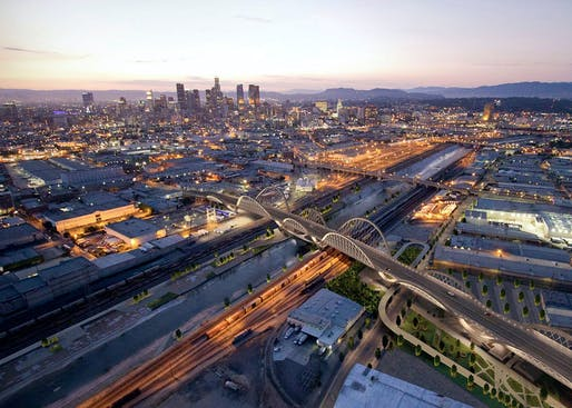 Rendering of the currently under-construction Sixth Street Viaduct. Image courtesy of Michael Maltzan Architecture.