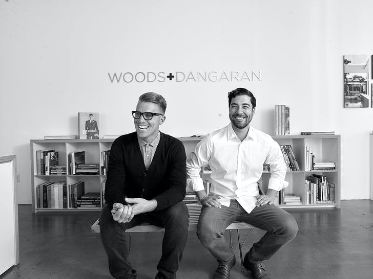 Brett Woods and Joseph Dangaran, co-founders of boutique architectural firm Woods + Dangaran. Photo: Francis Dreis.