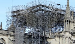 Notre Dame​: crews begin to carefully cut away fused scaffolding