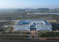 Feidong County Government Affairs Service Center: Public Axis and Converging Rainwater | Huadu Design