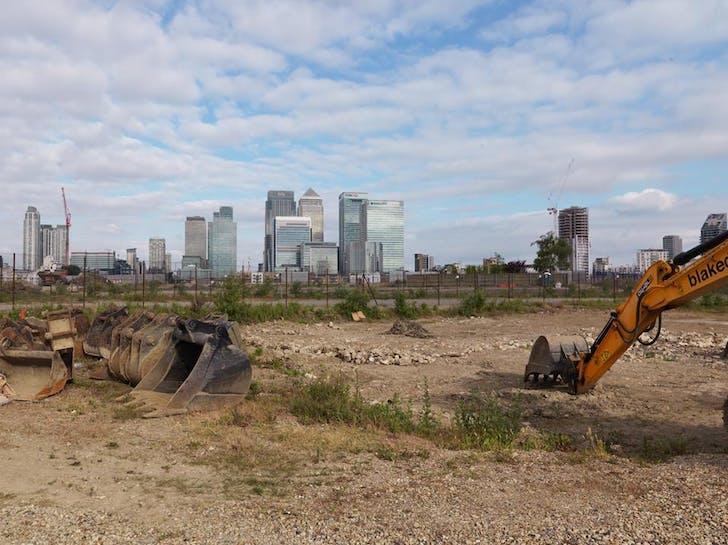 London as a building site.