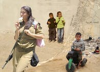 Life and Death Collage - Children of Isreal and Palestine (Photoshop)