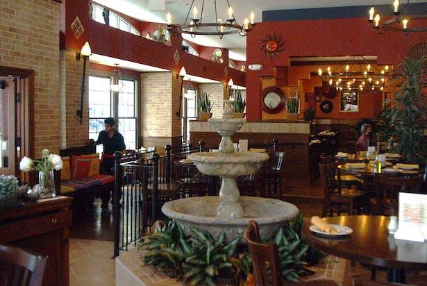 Interior Courtyard Looking Toward Dining Area