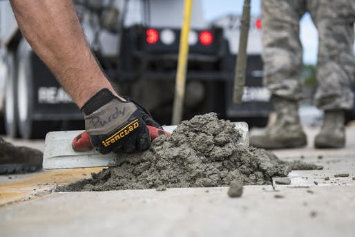 Researchers at UCLA are working on creating carbon-sequestering cement. Image courtesy of the United States Air Force.