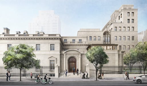 Rendering of the proposed Frick Collection expansion. Courtesy of Selldorf Architects.