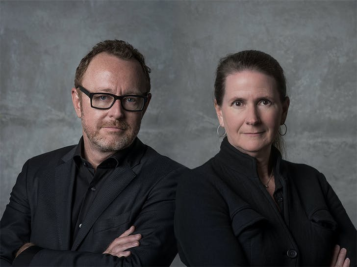John Enright & Margaret Griffin of Griffin Enright Architects. Image via Griffin Enright Architects.