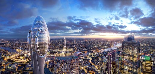 London's mayor has rejected municipal approval for Foster + Partner's Tulip tower. Image courtesy of Foster + Partners.