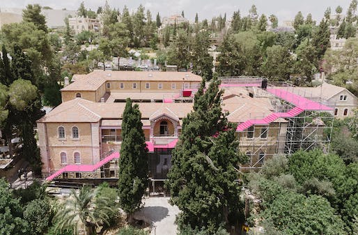 """<a href=""""https://archinect.com/firms/project/150251995/90-degrees/150251997"""">90 Degrees</a> in Jerusalem, Israel by <a href=""""https://archinect.com/HQ-Architects-LTD."""">HQ Architects</a>; Photo: Dor Kedmi"""