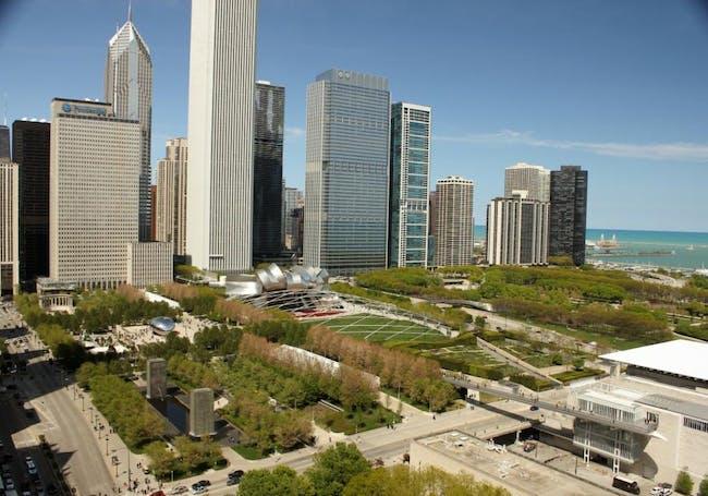 Millennium Park in Chicago, Illinois, by Edward K. Uhlir, FAIA. Image courtesy of the MCHAP.