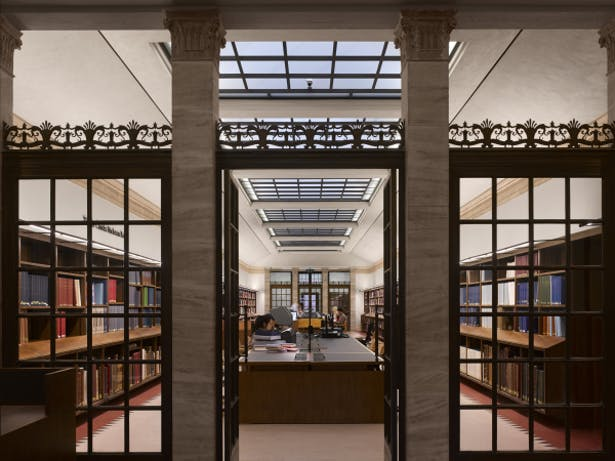 Weston Library - View of a newly refurbished reading room