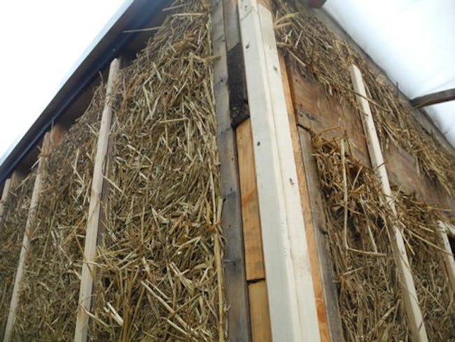 Light Straw Clay- Garage Retrofit..under construction via Melissa Elle Toman